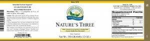 Nature's Sunshine nature's three label
