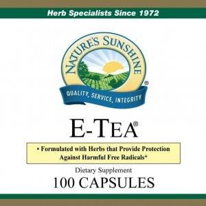 Nature's Sunshine e-tea label