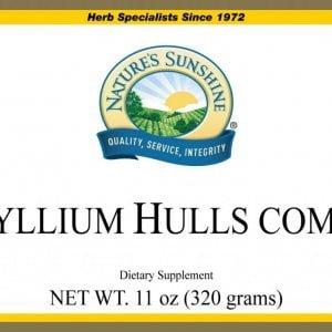 Nature's Sunshine psyllium hulls combo label