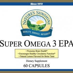 Nature's Sunshine super omega 3 epa label