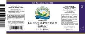 Nature's Sunshine Golden Seal Label