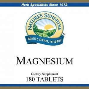 Nature's Sunshine magnesium label