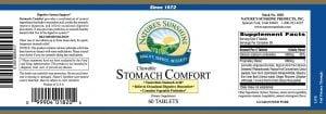 Nature's Sunshine stomach comfort label