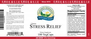 Nature's Sunshine stress relief label