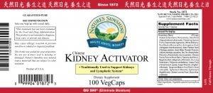 Nature's Sunshine kidney activator label