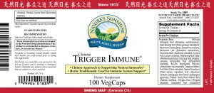 Nature's Sunshine trigger immune label