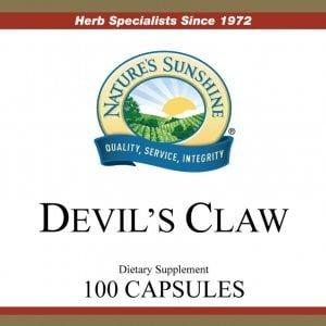 Nature's Sunshine Devil's Claw Label