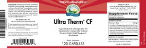 Nature's Sunshine Ultra Therm CF label