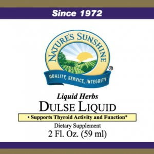 Nature's Sunshine dulse liquid label