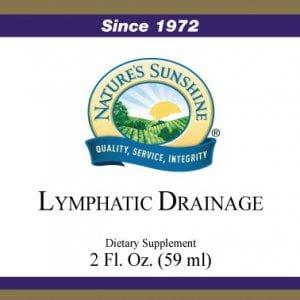 Nature's Sunshine lymphatic drainage label
