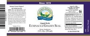 Nature's Sunshine echinacea golden seal label
