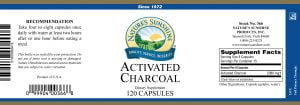 Nature's Sunshine Activated Charcoal Label