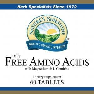 Nature's Sunshine Free Amino Acids Label