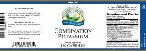 Nature's Sunshine Combination Potassium label