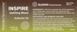 Nature's Sunshine INSPIRE Label