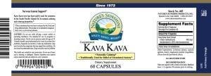 Natures Sunshine Kava Kava label