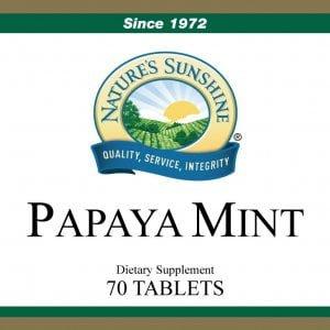 Natures Sunshine Papaya Mint label
