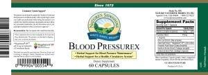 Nature's Sunshine Blood Pressurex Label