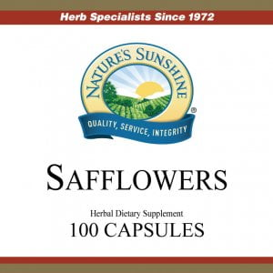 Natures Sunshine Safflowers label