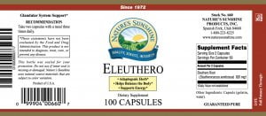 Natures Sunshine Eleuthero label