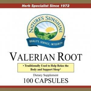 Natures Sunshine Valerian Root label