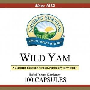 Natures Sunshine Wild Yam label