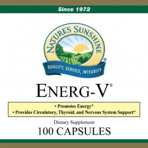 Nature's Sunshine Energ-V Label