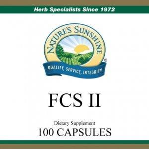 Nature's Sunshine FCS II Label
