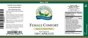 Nature's Sunshine Female Comfort Label