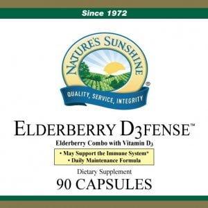 Nature's Sunshine Elderberry D3Fense label
