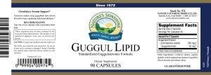 Nature's Sunshine guggul lipid label